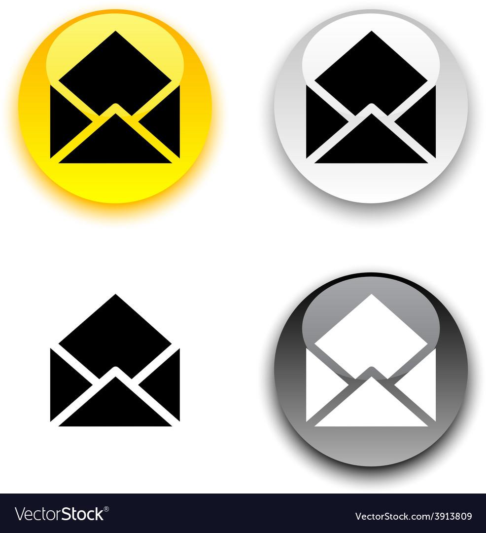 E-mail button vector | Price: 1 Credit (USD $1)