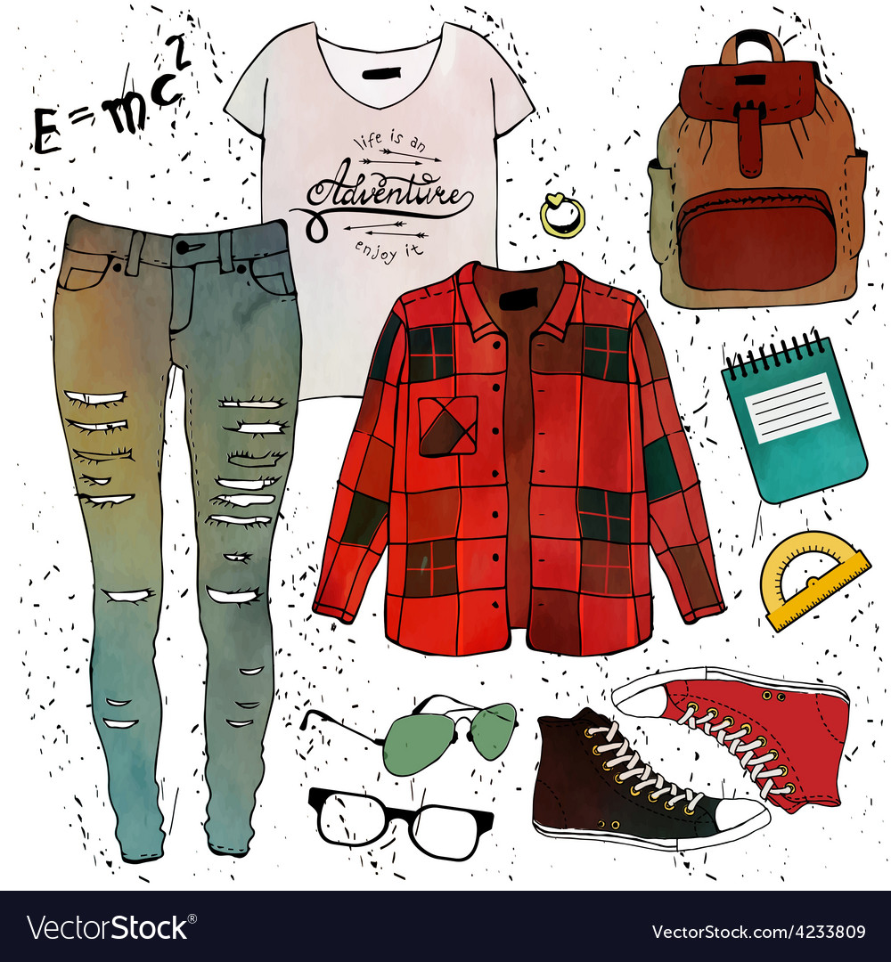 Fashion clothing set vector | Price: 1 Credit (USD $1)