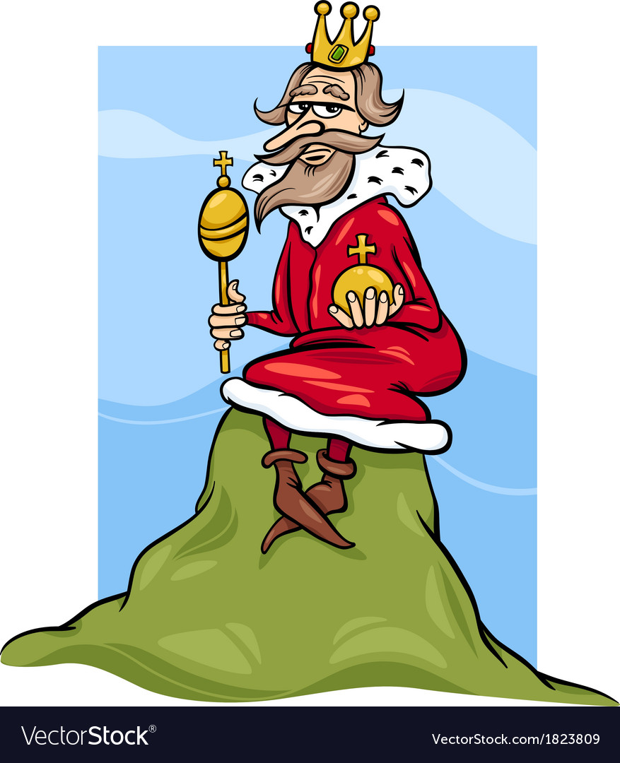 King of the hill saying cartoon vector | Price: 3 Credit (USD $3)
