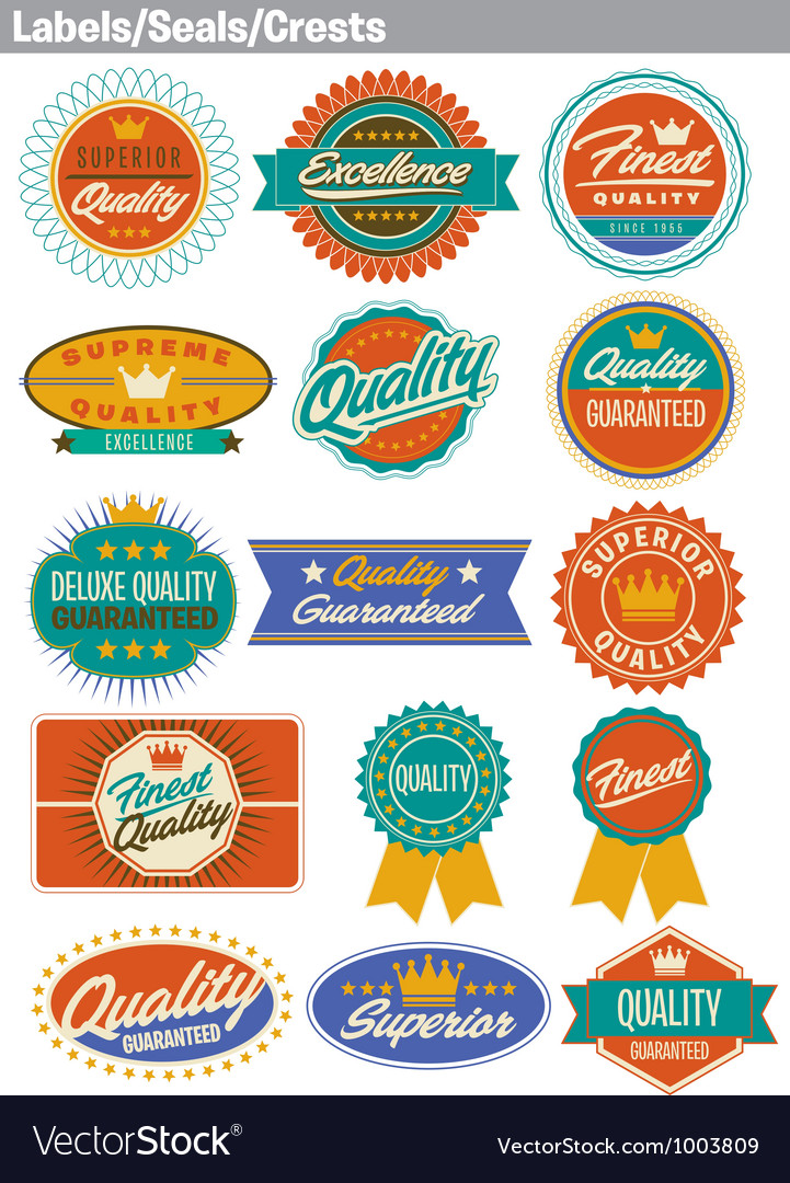 Labels seals crests vector | Price: 3 Credit (USD $3)
