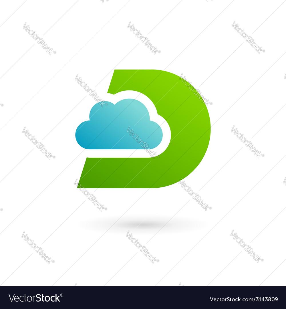 Letter d cloud logo icon design template elements vector | Price: 1 Credit (USD $1)