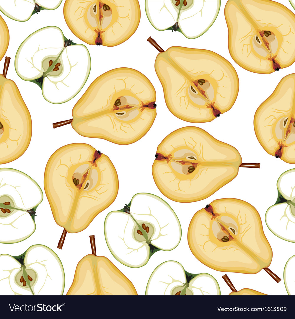 Pear apple pattern vector | Price: 1 Credit (USD $1)