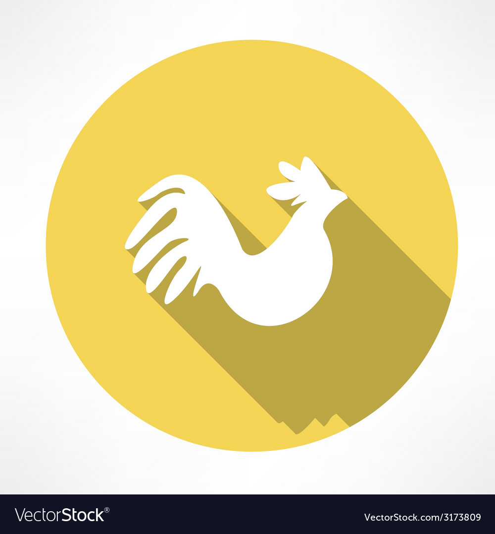 Rooster icon vector   Price: 1 Credit (USD $1)