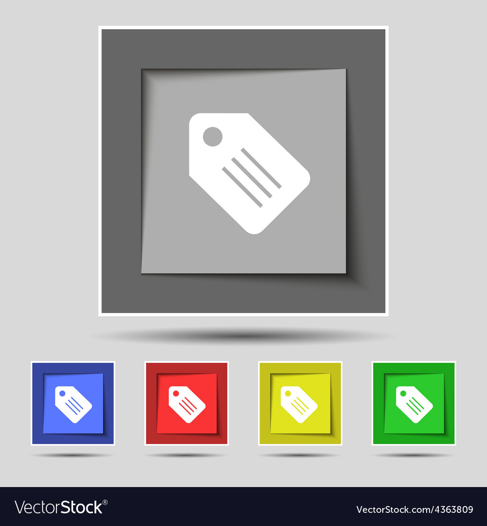 Special offer label icon sign on the original five vector | Price: 1 Credit (USD $1)