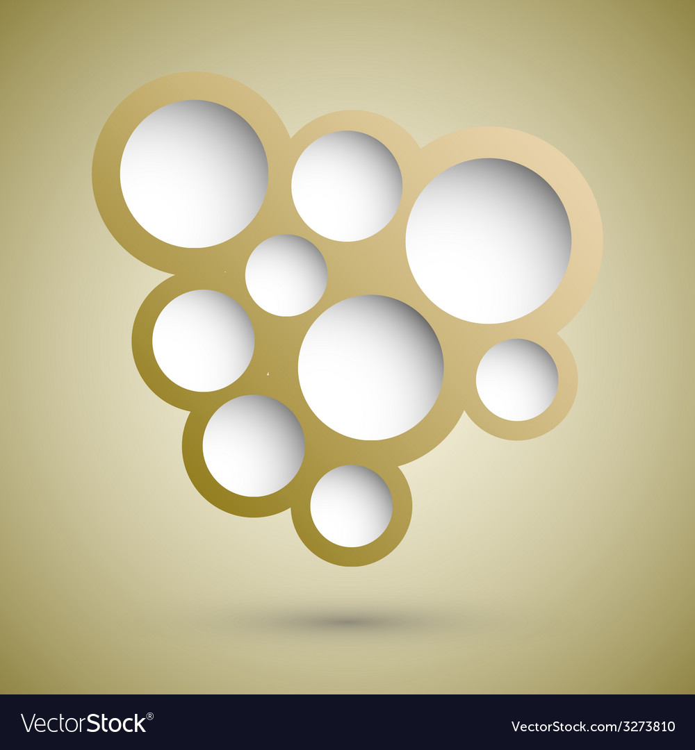 Abstract gold speech bubble background vector | Price: 1 Credit (USD $1)