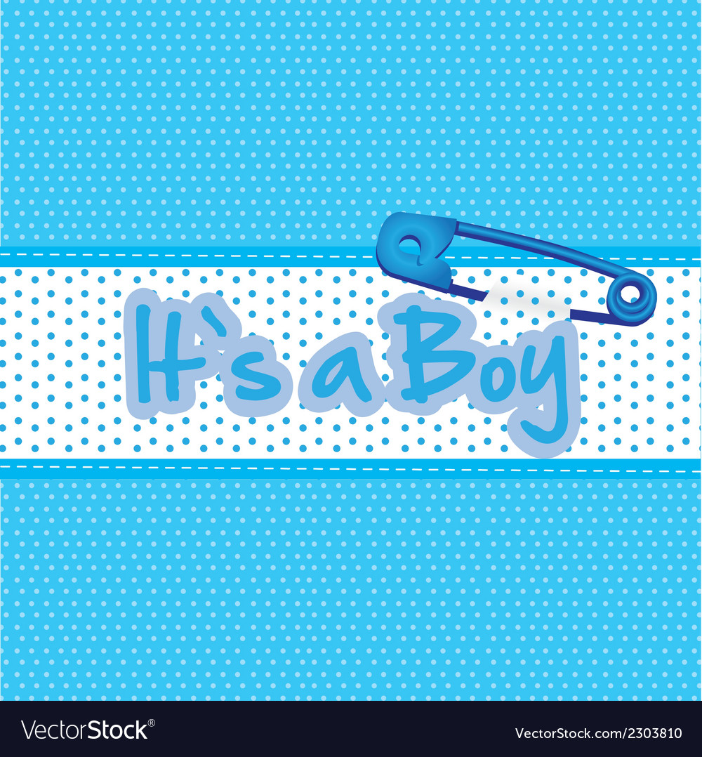 Background baby shower its a boy vector | Price: 1 Credit (USD $1)