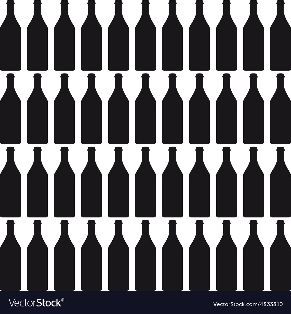 Background with bottles color silhouette vector