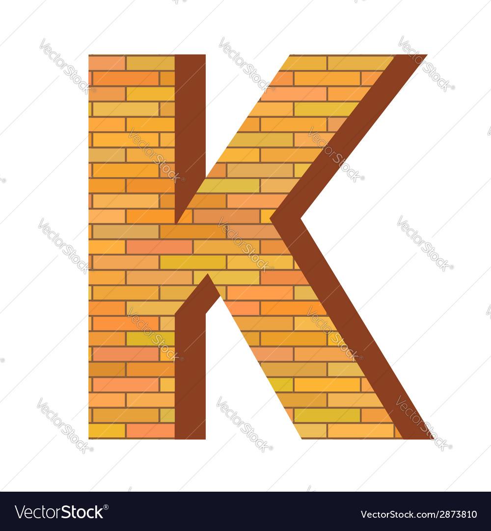 Brick letter k vector | Price: 1 Credit (USD $1)
