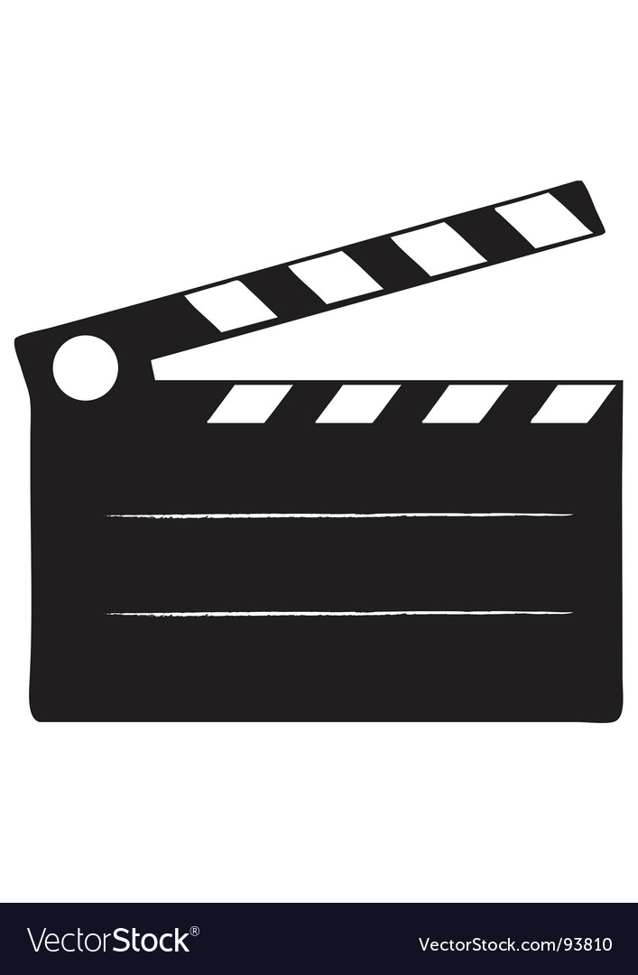 Cinema slate vector | Price: 1 Credit (USD $1)