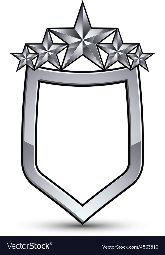 Festive emblem with silver outline and five vector | Price: 1 Credit (USD $1)