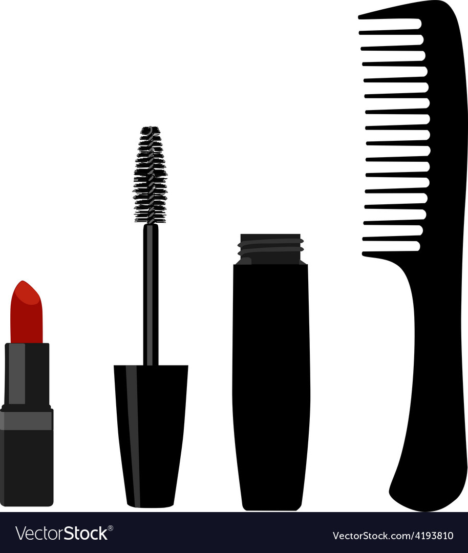 Mascara comb and lipstick vector | Price: 1 Credit (USD $1)