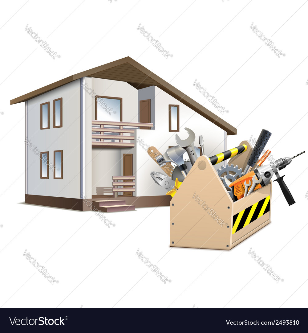 Toolbox and house vector | Price: 3 Credit (USD $3)