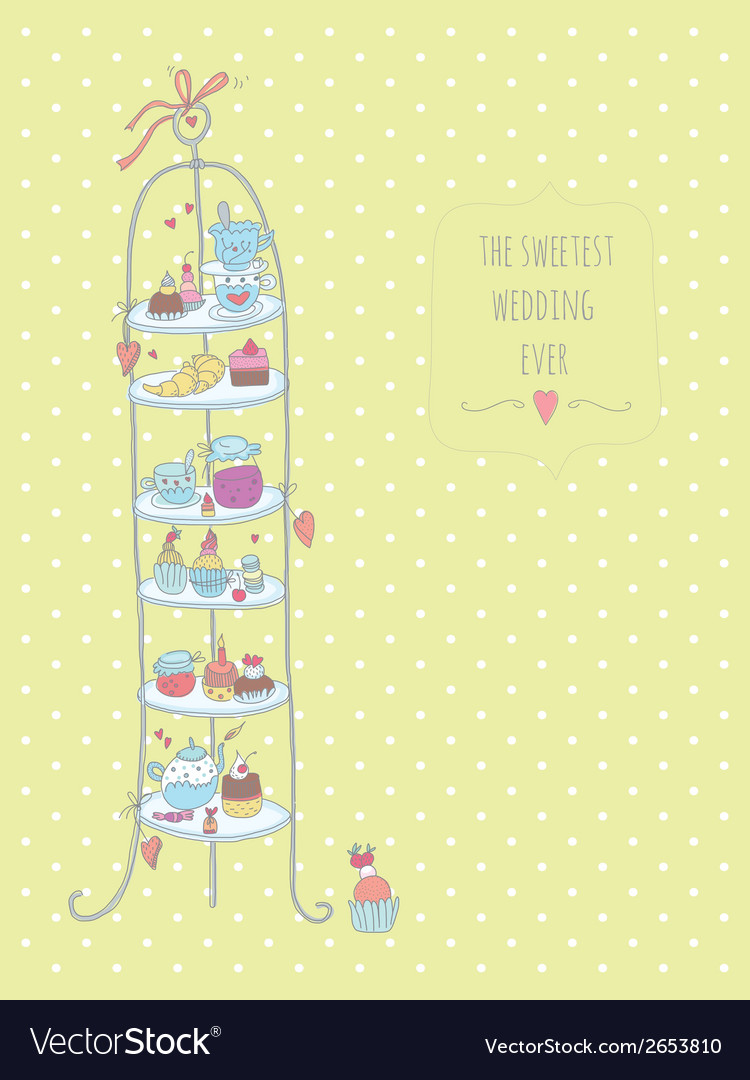 Wedding cake stand vector | Price: 1 Credit (USD $1)