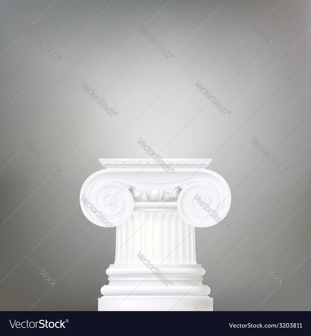 Architectural background  ionic column  d vector | Price: 1 Credit (USD $1)