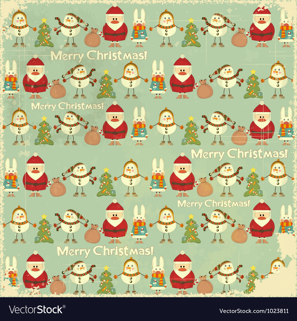 Christmas vintage background vector | Price: 1 Credit (USD $1)