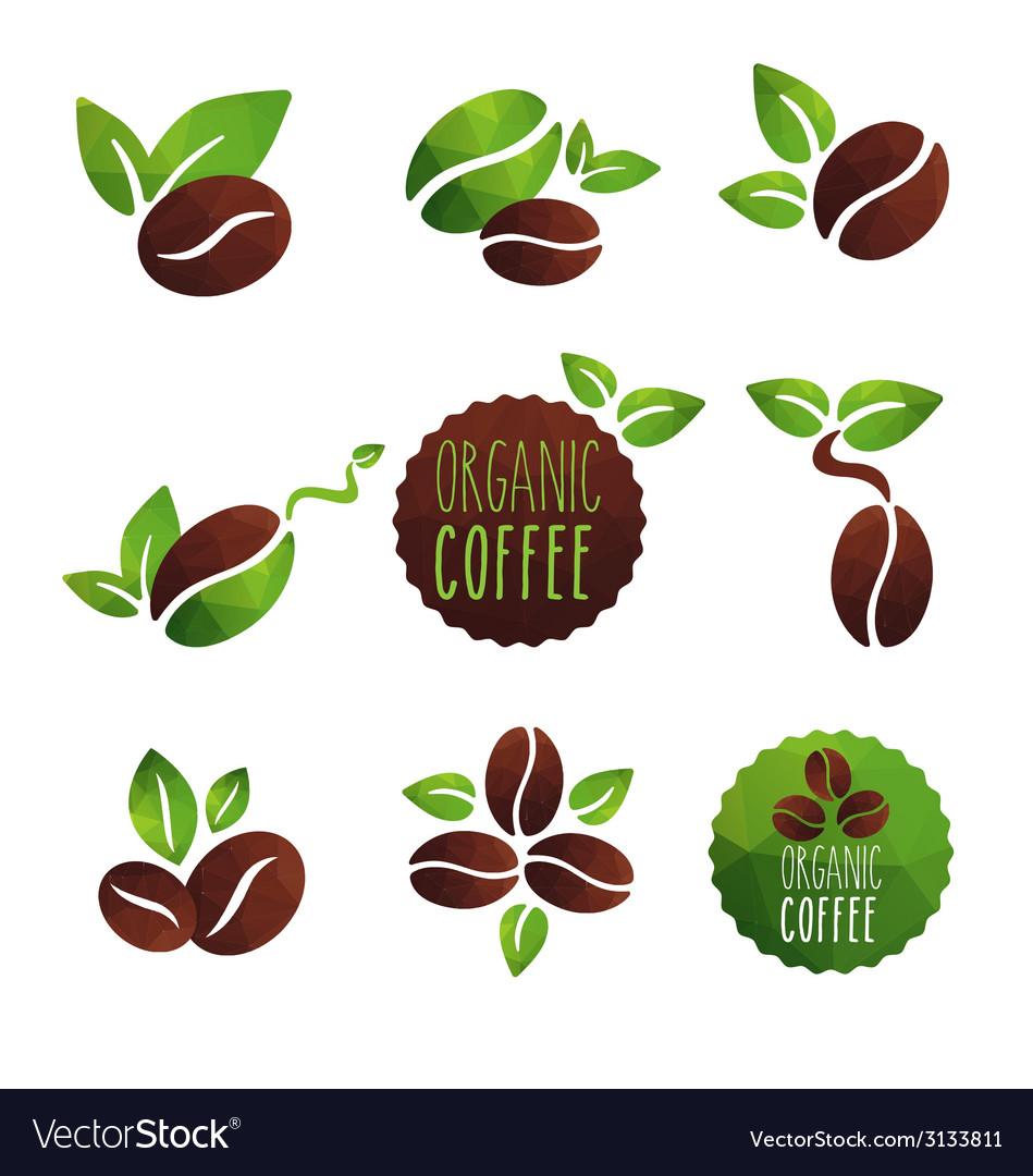 Coffee organic vector | Price: 1 Credit (USD $1)