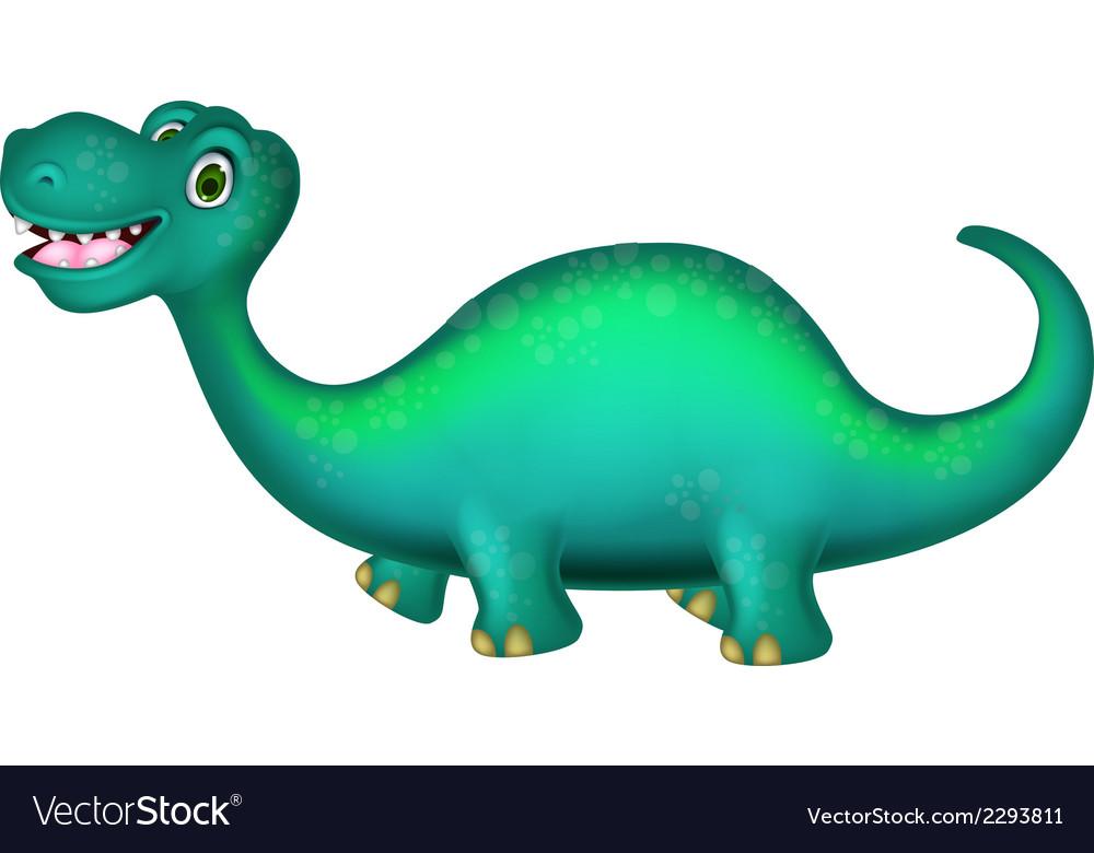 Cute brontosaurus cartoon vector | Price: 1 Credit (USD $1)