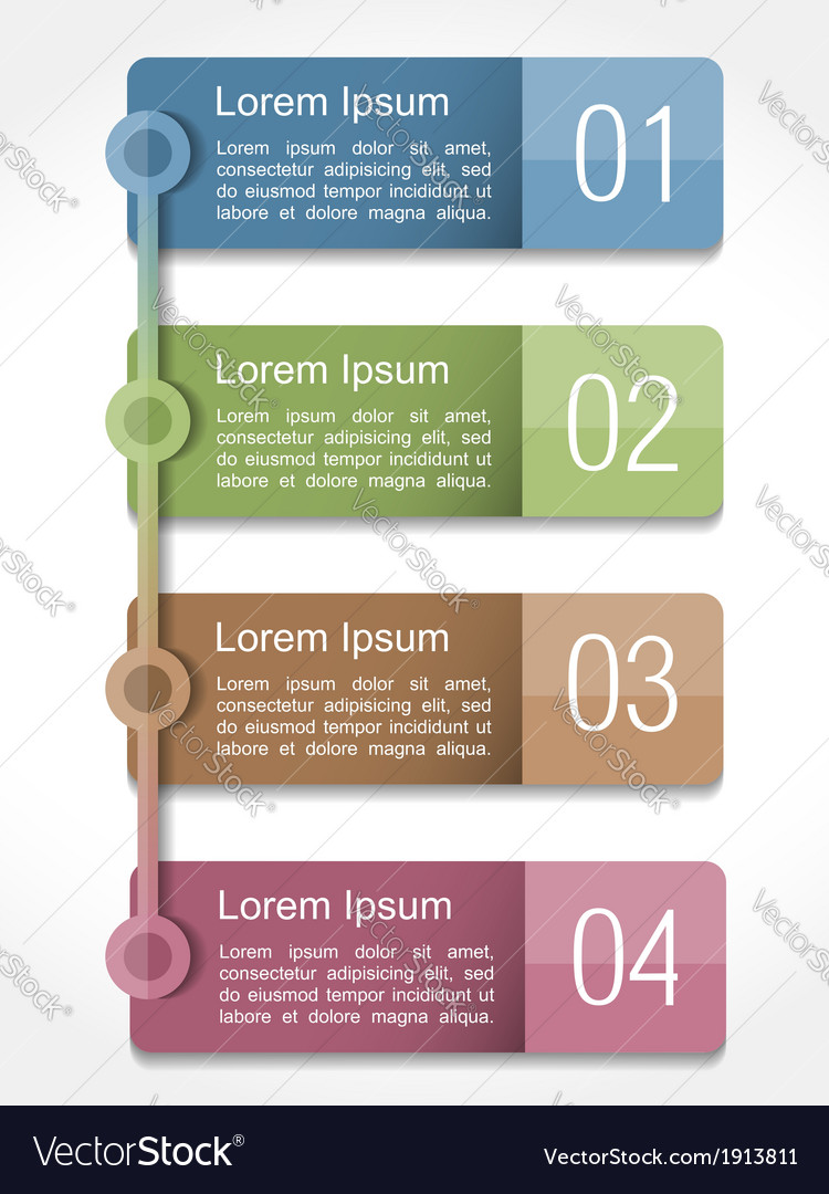 Design template with four elements vector | Price: 1 Credit (USD $1)
