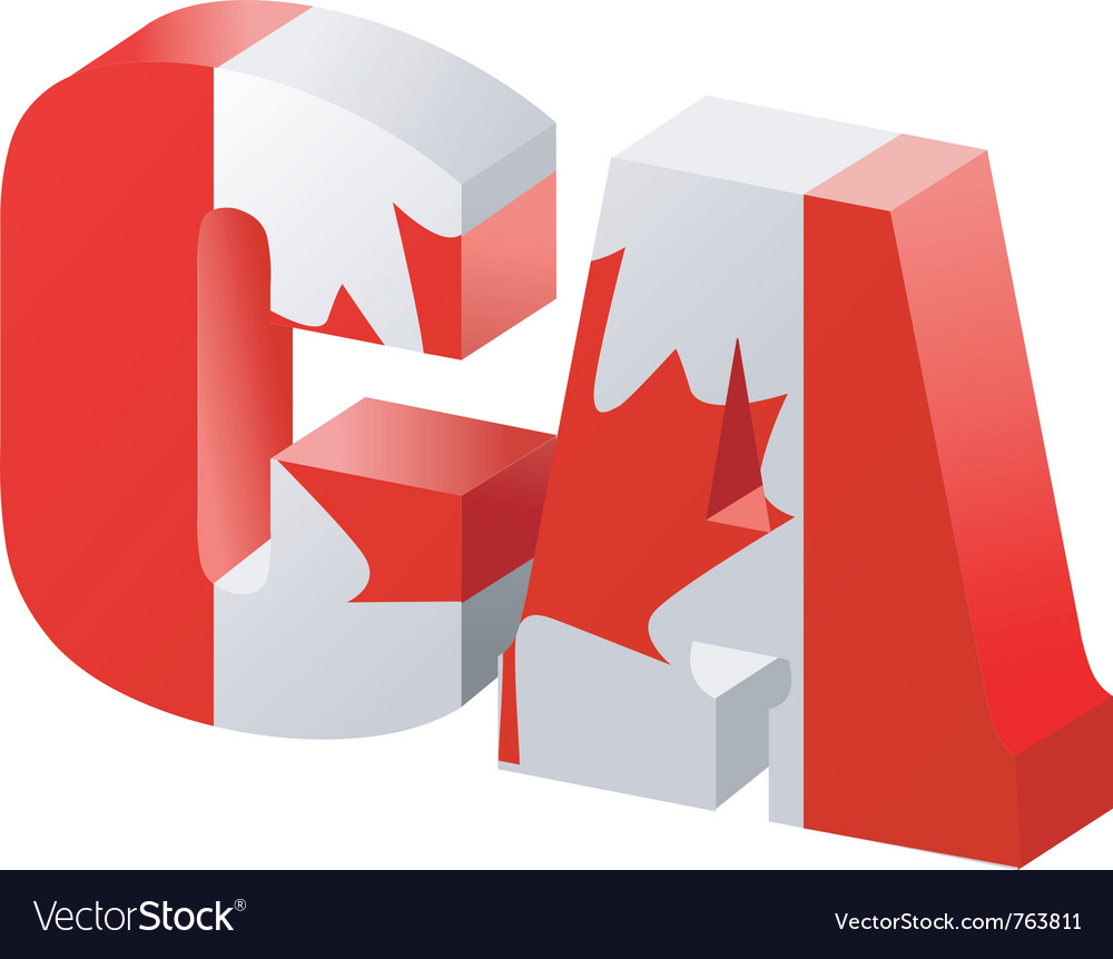 Internet top-level domain of canada vector | Price: 1 Credit (USD $1)