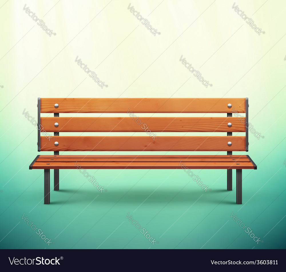 Isolated bench vector | Price: 1 Credit (USD $1)