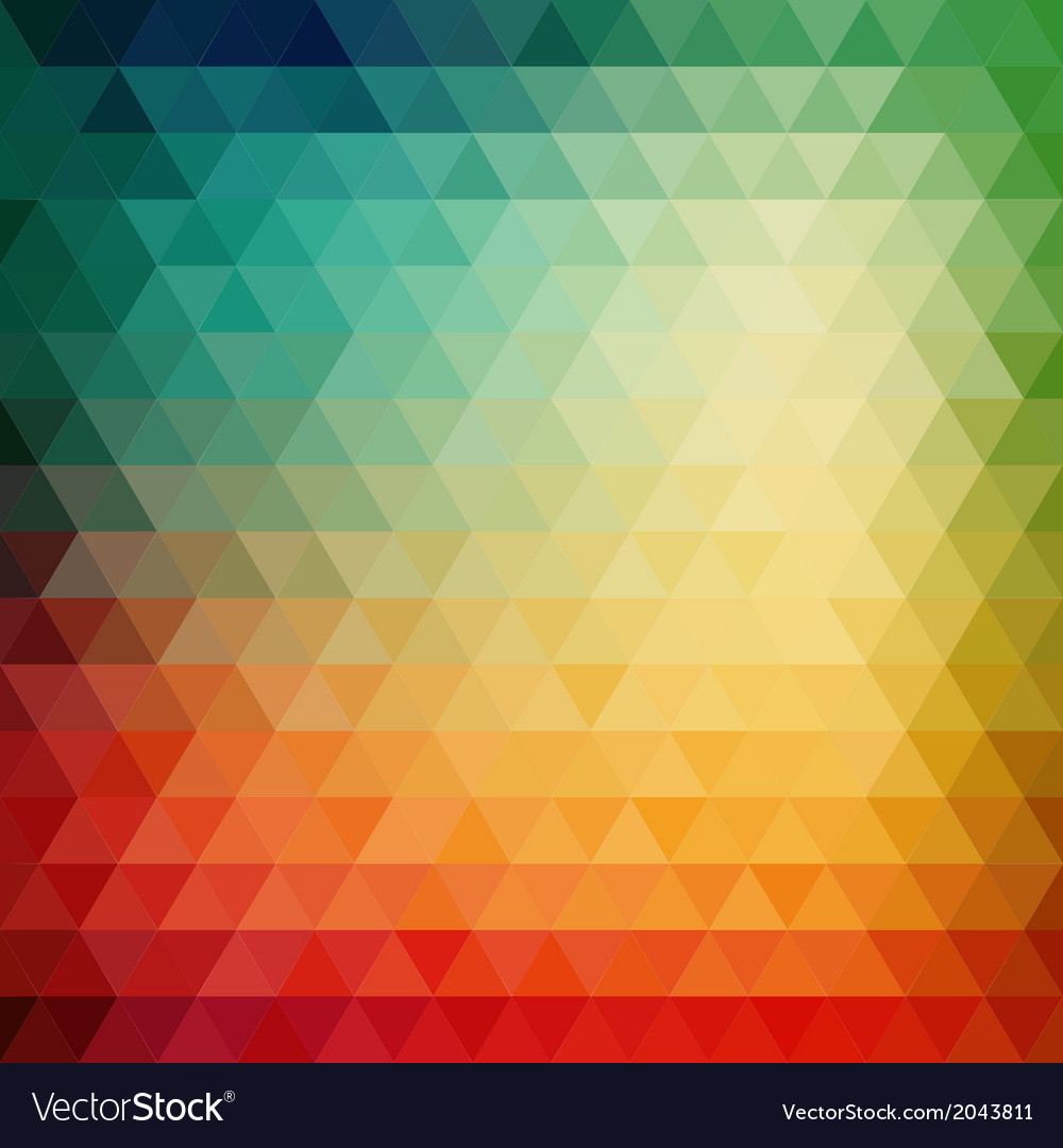 Retro mosaic pattern of geometric triangle shapes vector   Price: 1 Credit (USD $1)