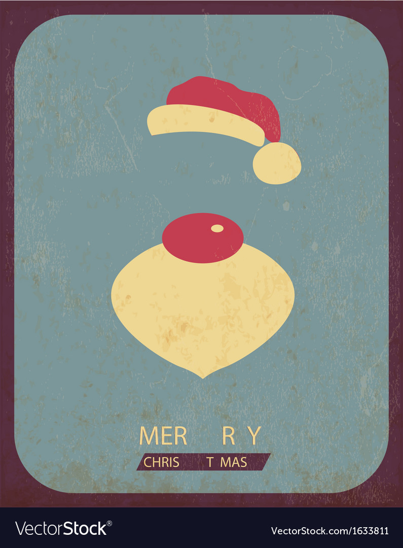 Retro vintage minimal merry christmas background vector | Price: 1 Credit (USD $1)
