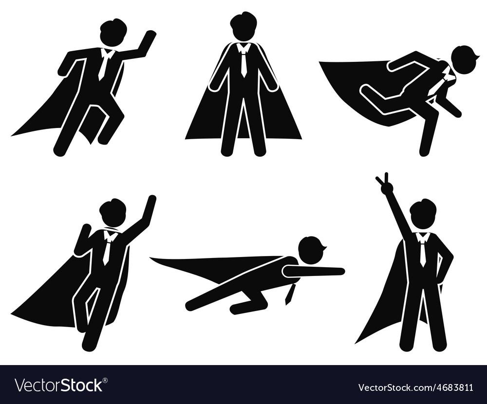 Super businessman stick figure pictogram vector   Price: 1 Credit (USD $1)