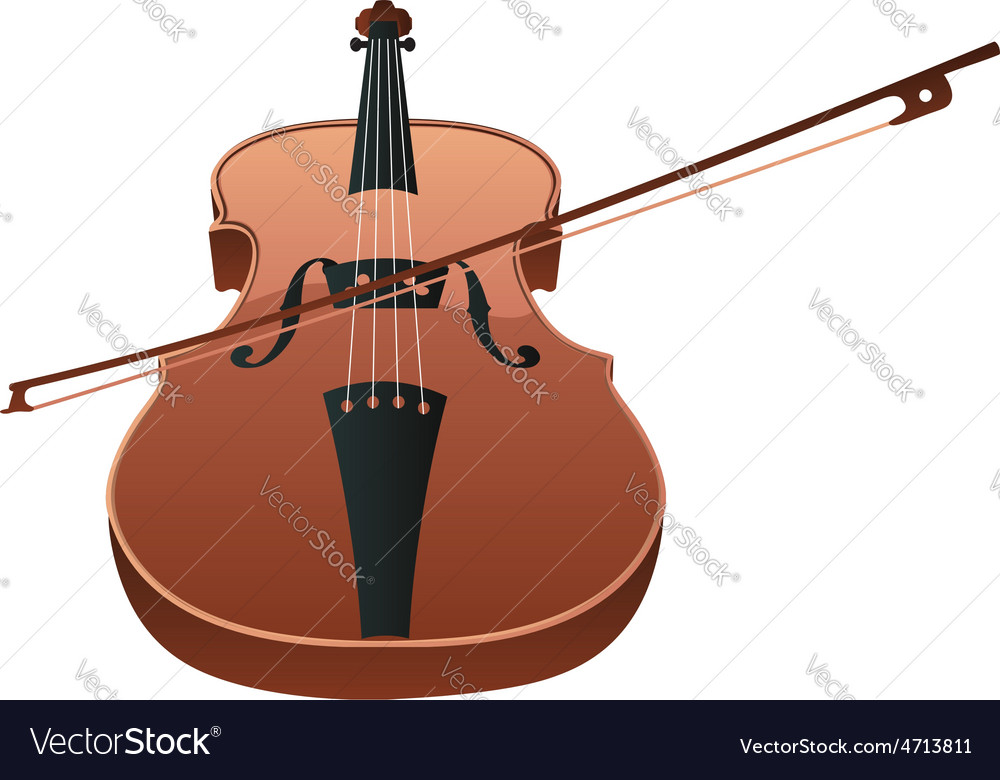 Violin with bow vector | Price: 1 Credit (USD $1)