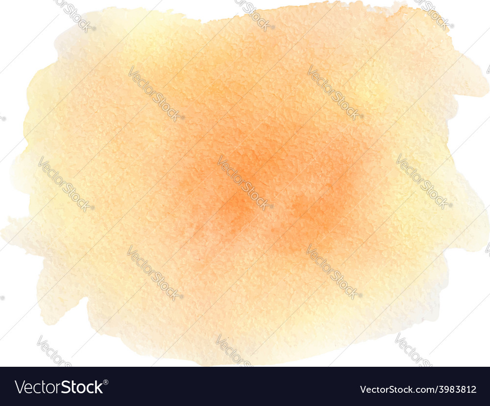 Abstract orange watercolor background vector | Price: 1 Credit (USD $1)
