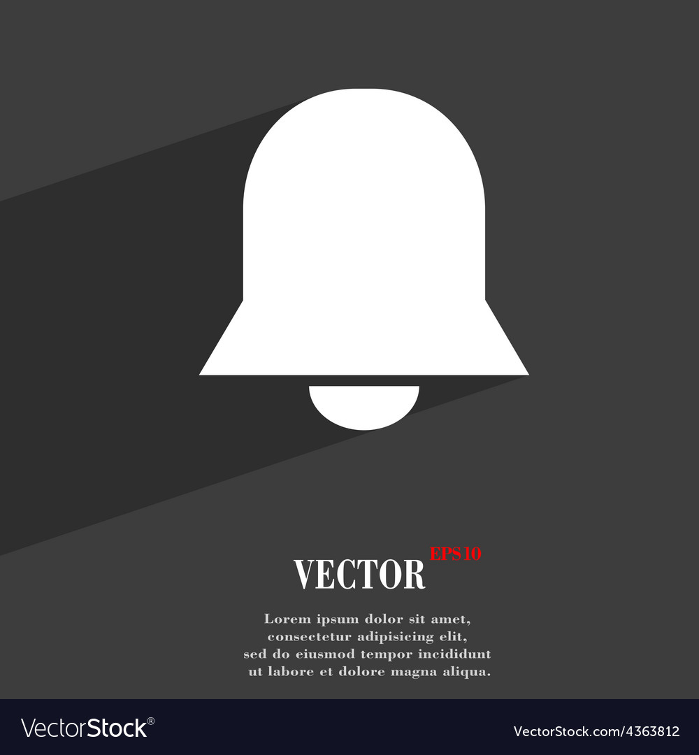 Alarm bell icon symbol flat modern web design with vector | Price: 1 Credit (USD $1)