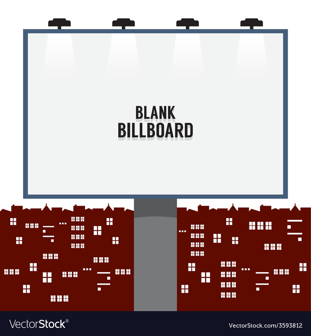 Blank advertising billboard in the city vector | Price: 1 Credit (USD $1)