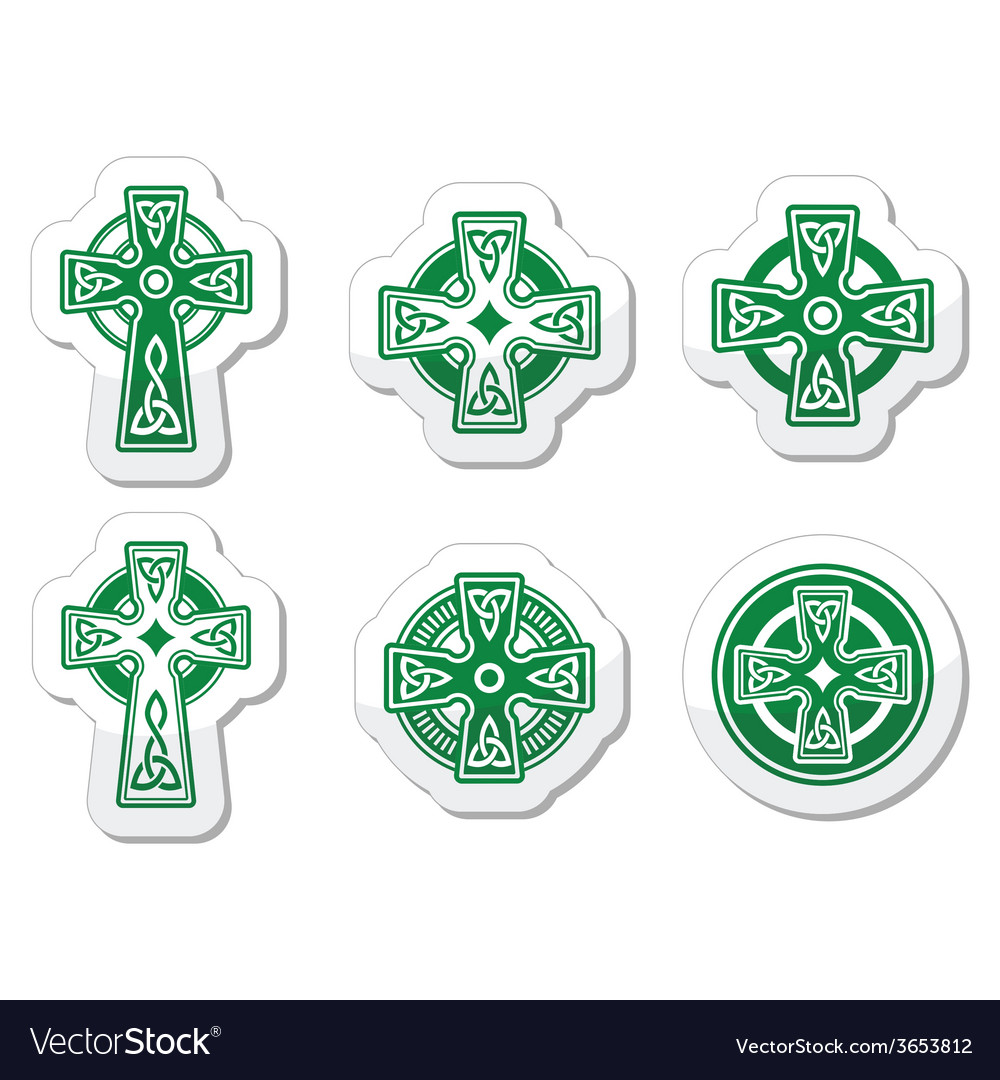 Irish scottish celtic cross on white sign vector | Price: 1 Credit (USD $1)