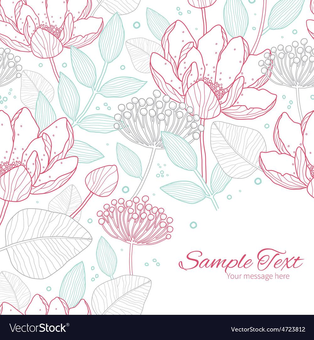 Modern line art florals frame corner vector | Price: 1 Credit (USD $1)