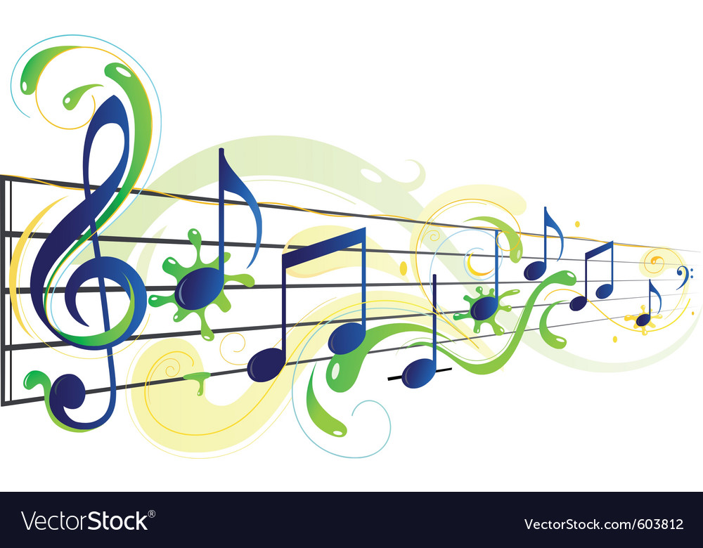 Music floral vector | Price: 1 Credit (USD $1)