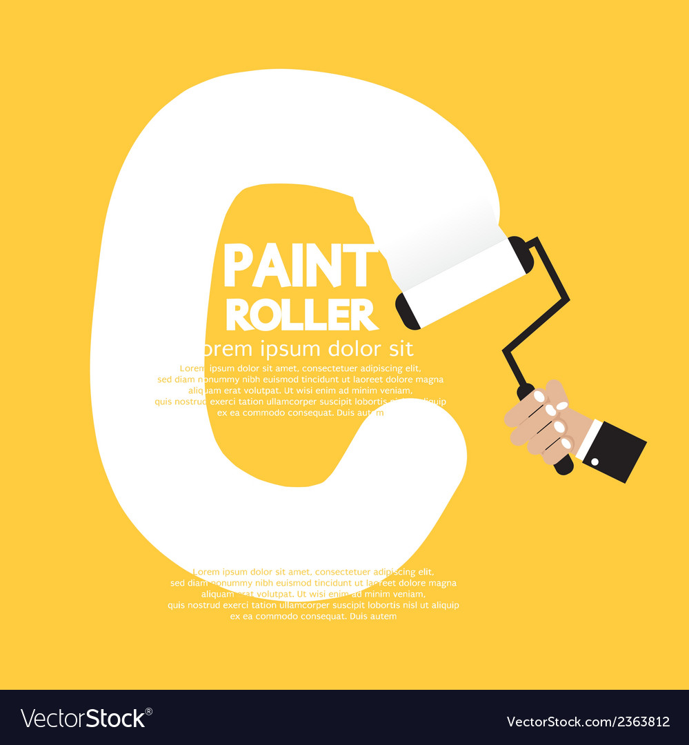 Paint roller alphabet c vector | Price: 1 Credit (USD $1)