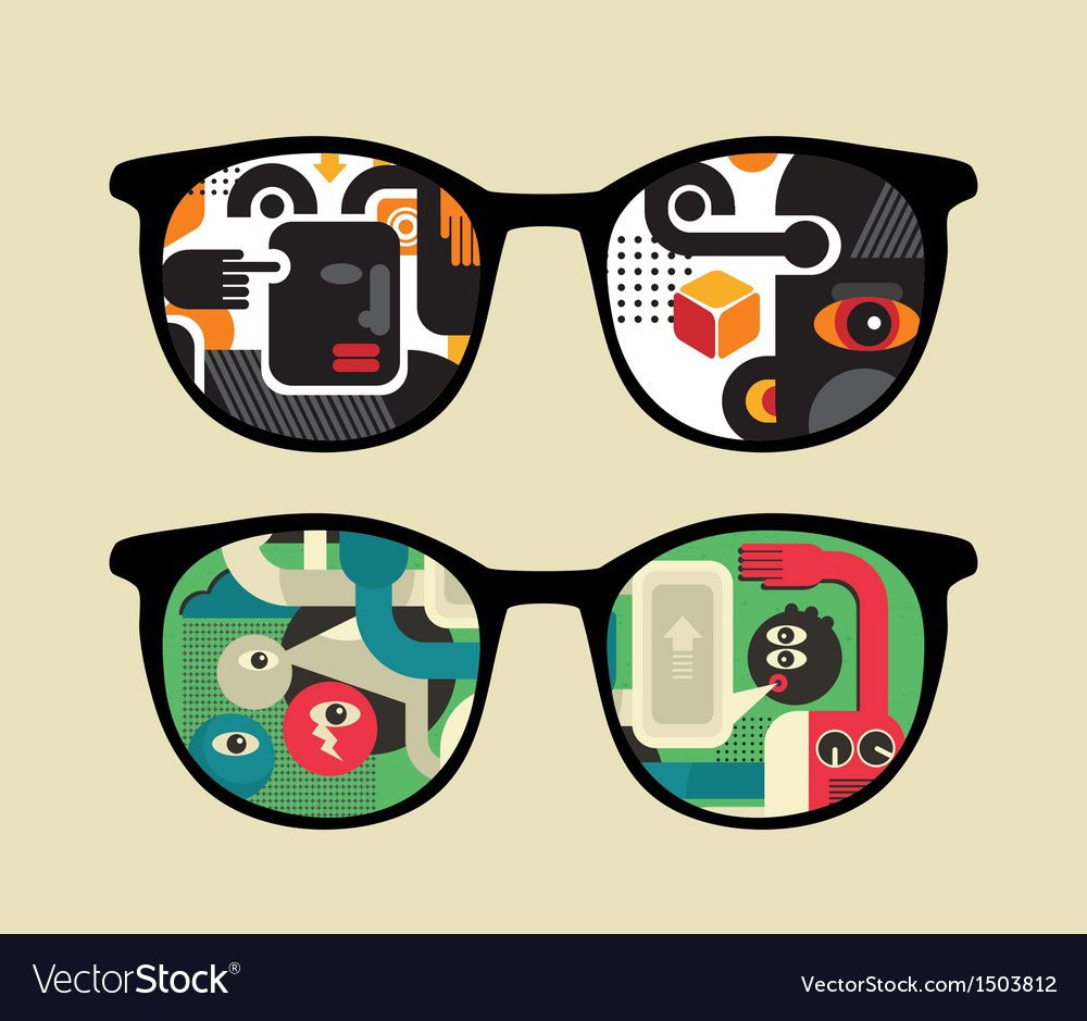 Retro sunglasses with reflection in it vector   Price: 1 Credit (USD $1)