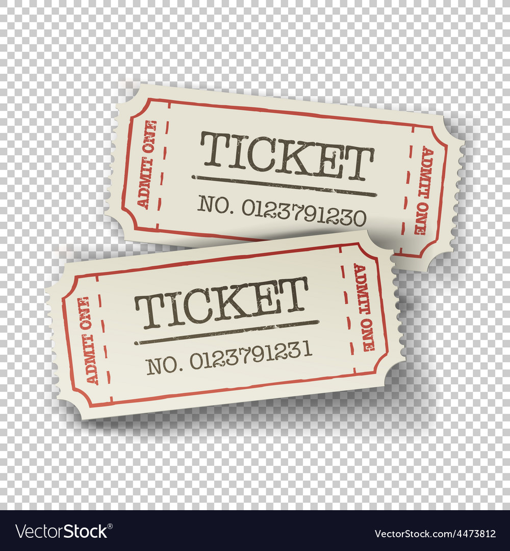 Tickets isolated vector | Price: 1 Credit (USD $1)