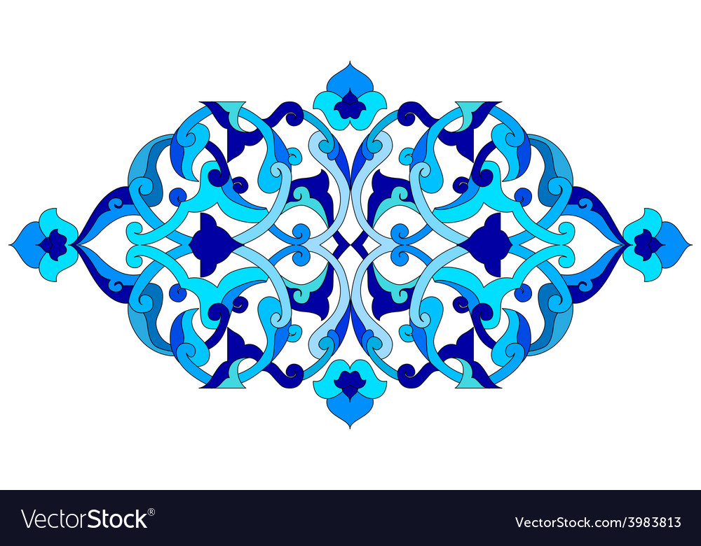 Artistic ottoman pattern series sixty five vector | Price: 1 Credit (USD $1)