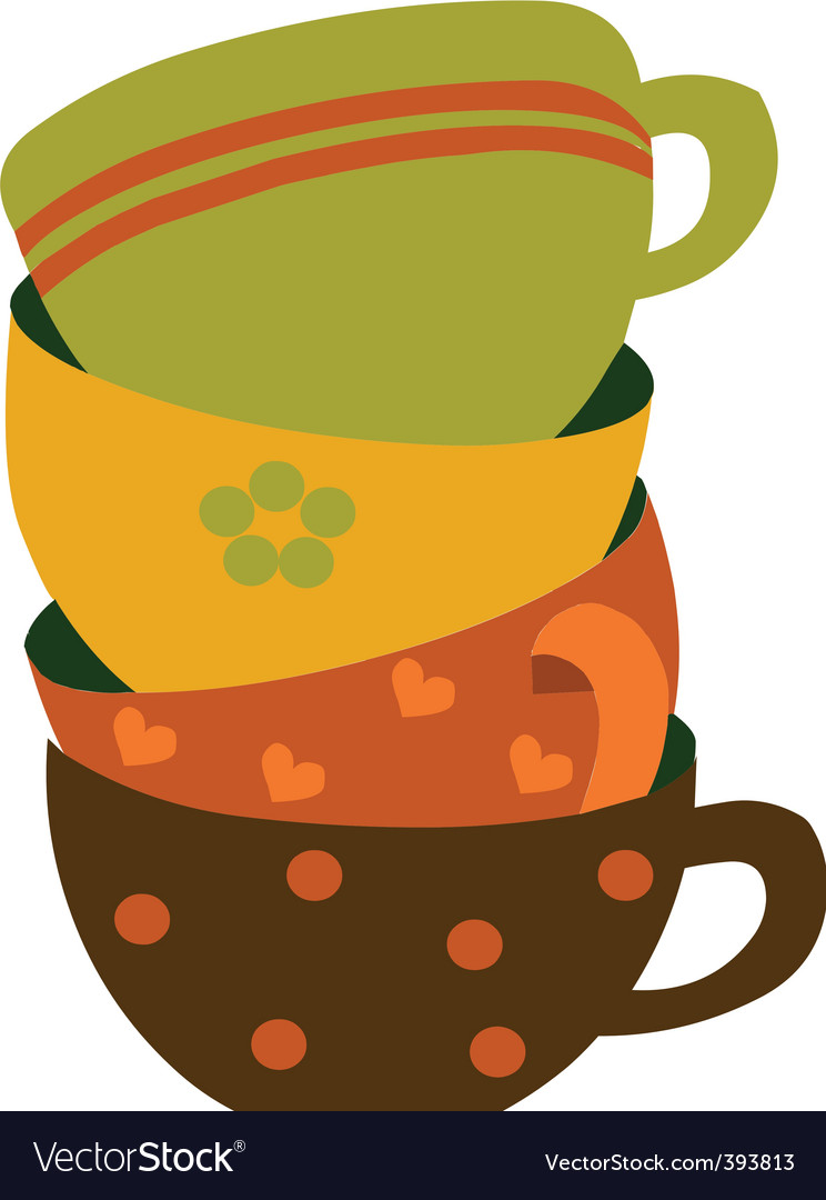 Coffee cups vector | Price: 1 Credit (USD $1)