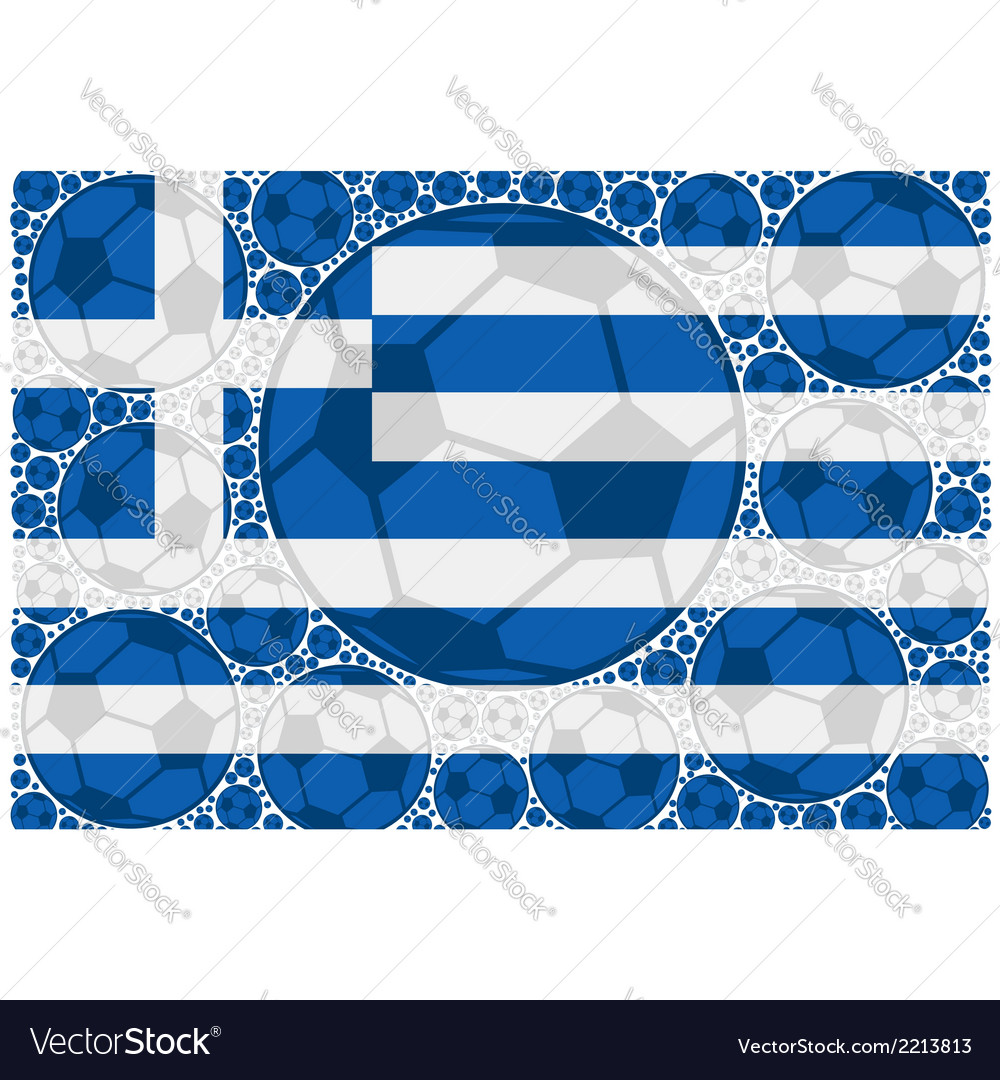 Greece soccer balls vector | Price: 1 Credit (USD $1)
