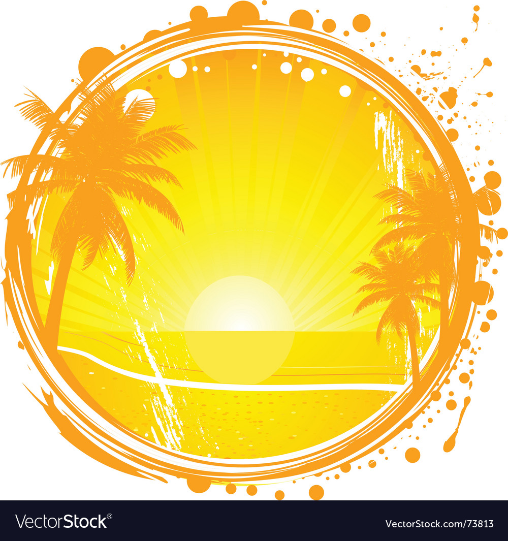 Grunge summer background vector | Price: 1 Credit (USD $1)