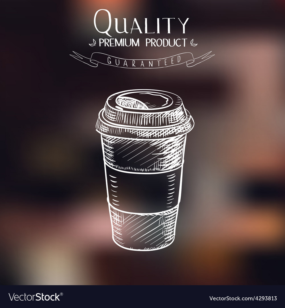 Hand drawn doodle sketch vintage paper cup of vector | Price: 1 Credit (USD $1)