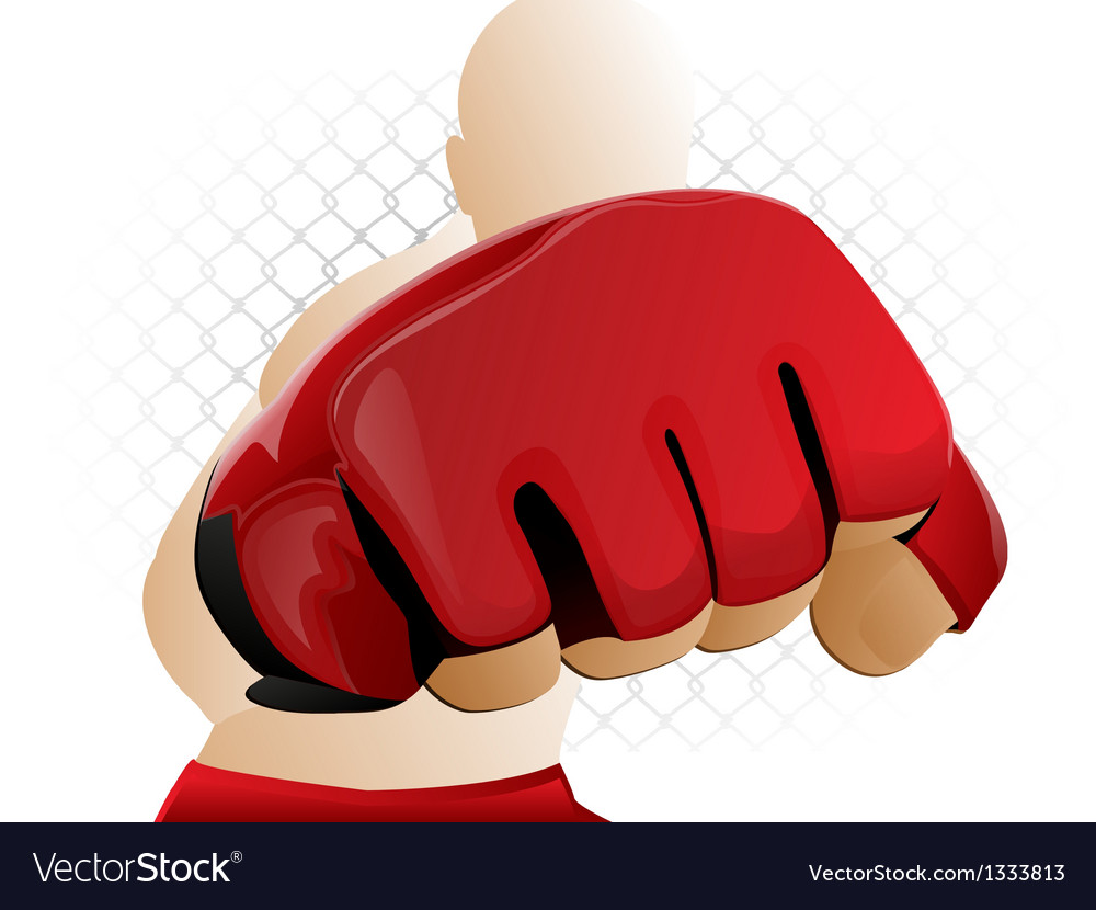 Mma fighter punch vector | Price: 1 Credit (USD $1)