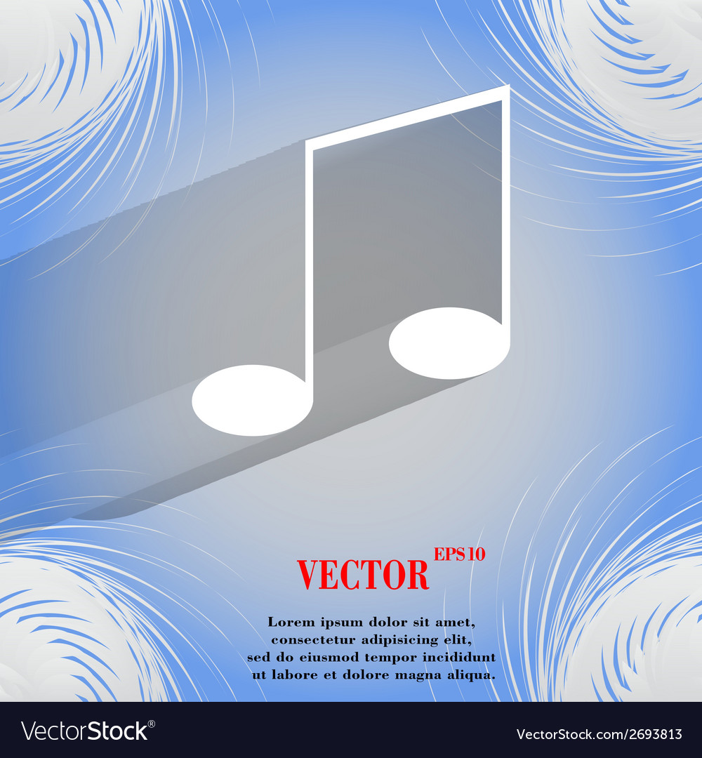 Music elements notes web icon on a flat geometric vector   Price: 1 Credit (USD $1)