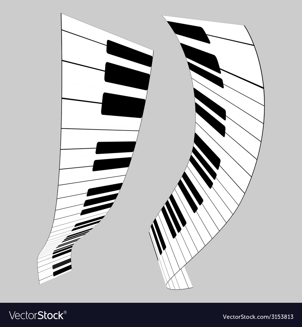 Piano keys for design vector | Price: 1 Credit (USD $1)