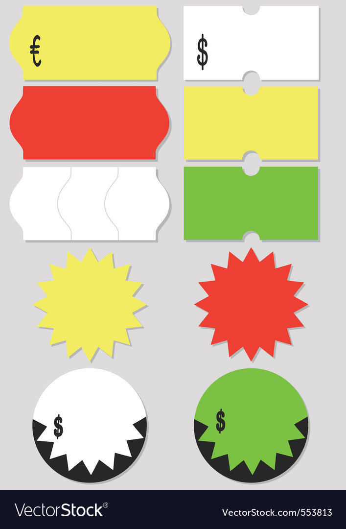 Price tag set vector | Price: 1 Credit (USD $1)