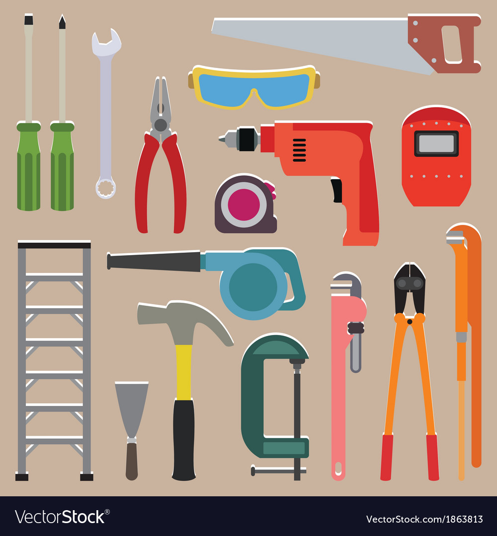 Set of tools instrument icons vector | Price: 1 Credit (USD $1)