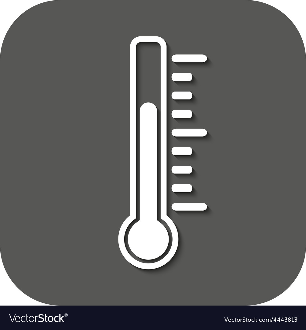 The thermometer icon thermometer symbol flat vector   Price: 1 Credit (USD $1)