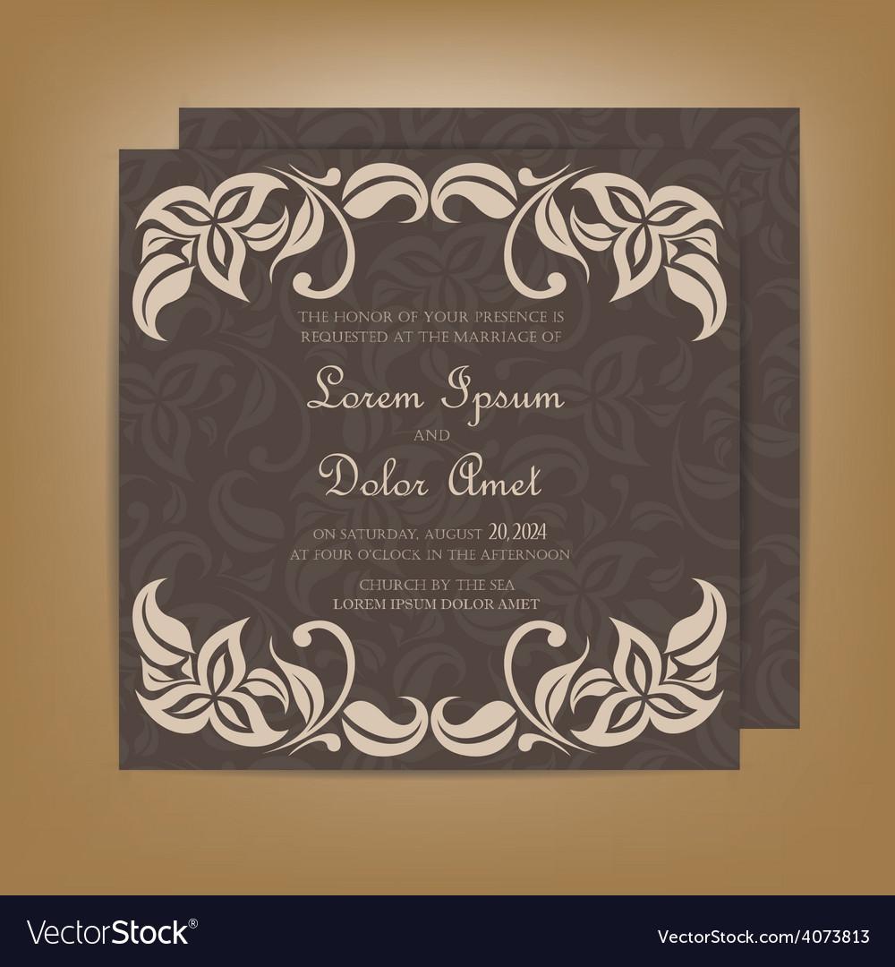 Wedding invitation dark vector | Price: 1 Credit (USD $1)