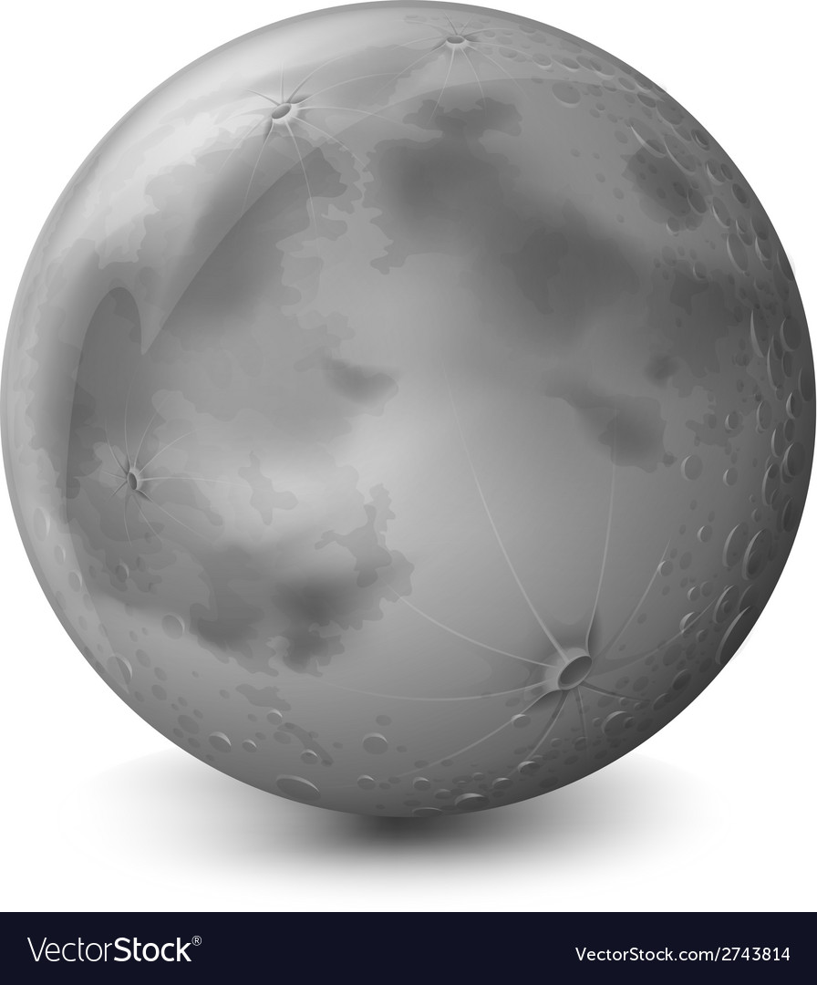A grey planet vector | Price: 1 Credit (USD $1)